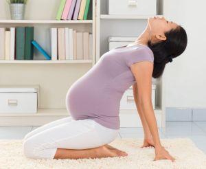 Yoga woman meditating at home