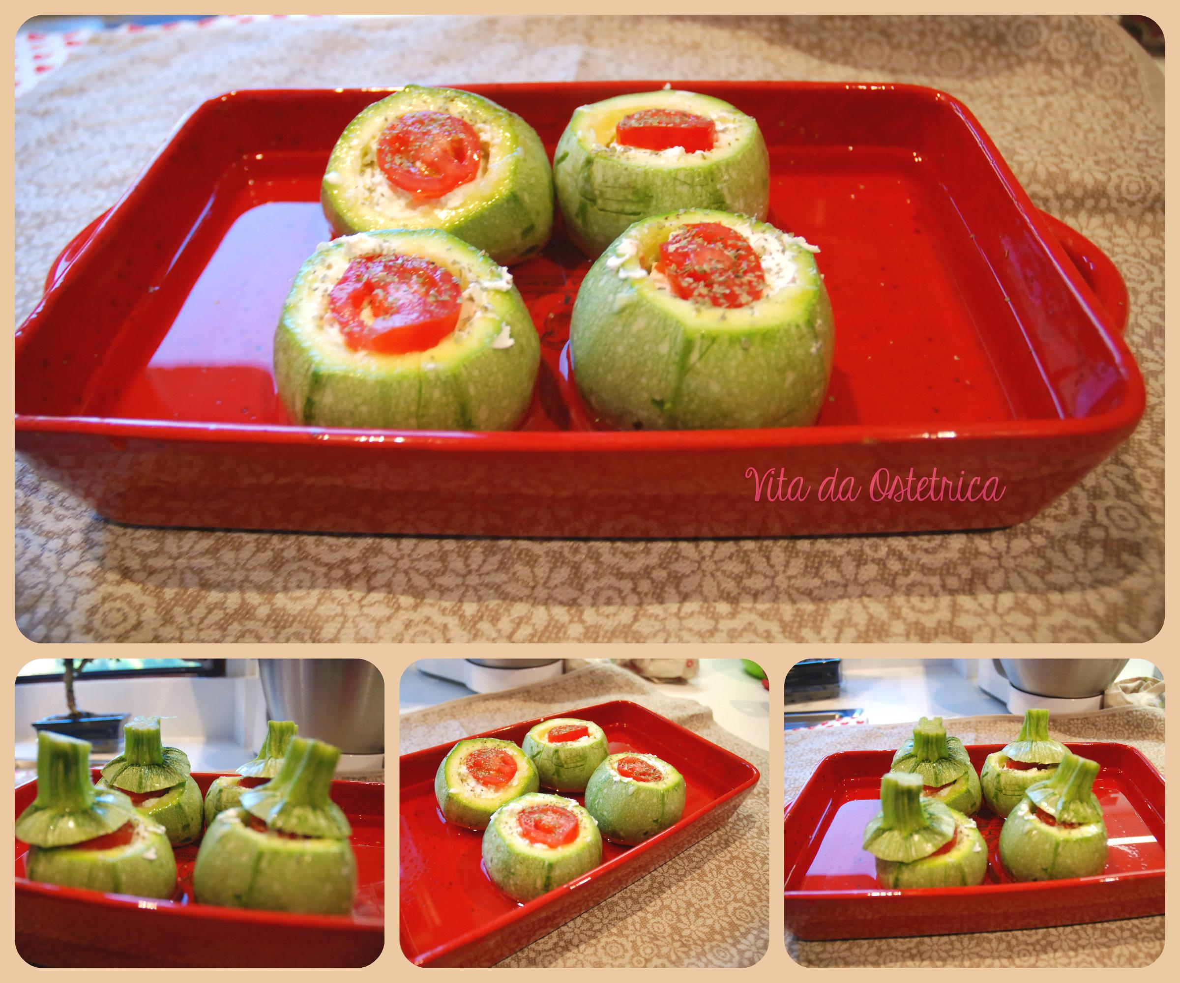 Zucchine ripiene la mia versione vegetariana vita da for Cucinare zucchine tonde
